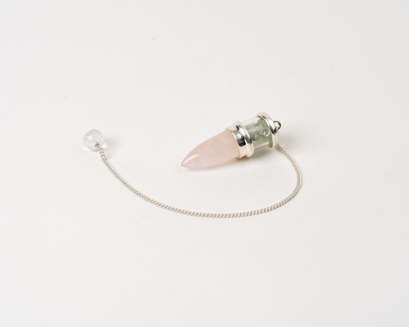 Rose Quartz/Aquam Chamber Pendulum