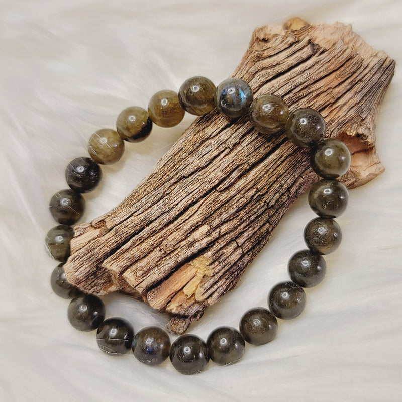 Labradorite 8mm Round Beaded Bracelet