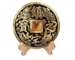 Lucky Coin (Celestial) with Wood Stand, Large