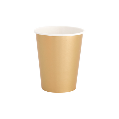 Gold Paper Party Cups - Ralph and Luna Party Shop