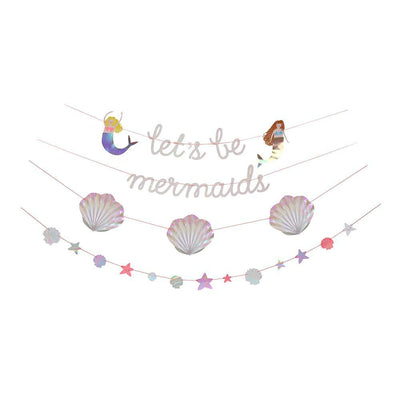 Let's Be Mermaids Garland - Ralph and Luna Party Shop