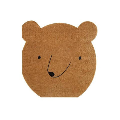 Bear Napkins (small) - Ralph and Luna Party Shop