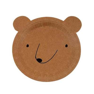 Bear Plates (small) - Ralph and Luna Party Shop