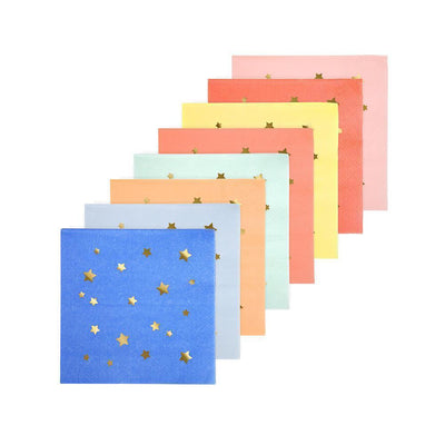 Jazzy Star Napkins (small) - Ralph and Luna Party Shop