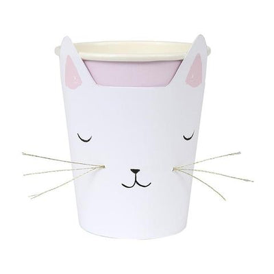 Cat with Whiskers Cups - Ralph and Luna Party Shop