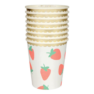 Strawberry Cups - Ralph and Luna Party Shop
