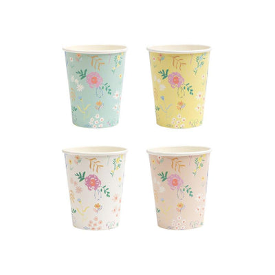Wildflower Pastel Cups - Ralph and Luna Party Shop