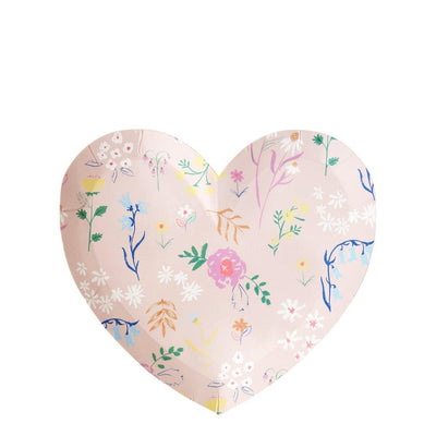Wildflower heart small plate - Ralph and Luna Party Shop