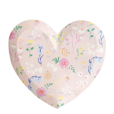 Wildflower Heart Large Plates - Ralph and Luna Party Shop