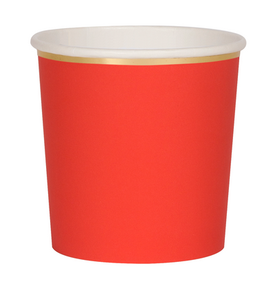 Red Tumbler Cups - Ralph and Luna Party Shop