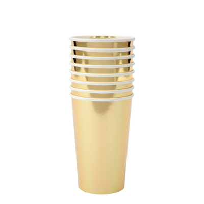Gold Highball Cups - Ralph and Luna Party Shop
