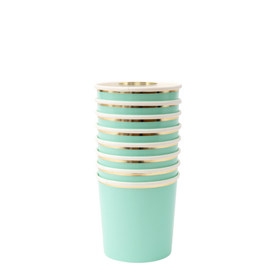 Mint Tumbler Cups - Ralph and Luna Party Shop