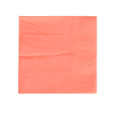 Neon Coral Party Napkins - Ralph and Luna Party Shop