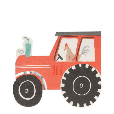 On the Farm Tractor Napkins - Ralph and Luna Party Shop