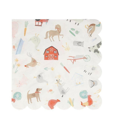 On the Farm Large Napkins - Ralph and Luna Party Shop
