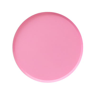 Rose Pink Large Paper Plates - Ralph and Luna Party Shop