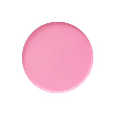 Rose Pink Small Paper Party Plates - Ralph and Luna Party Shop