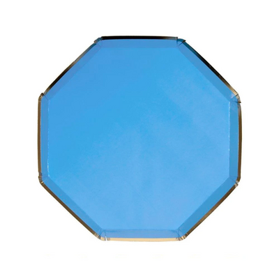 Bright Blue Side Plates - Ralph and Luna Party Shop