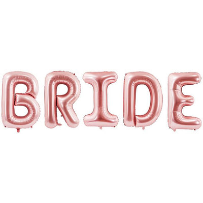 Bride Rose Gold Foil Balloon - Ralph and Luna Party Shop