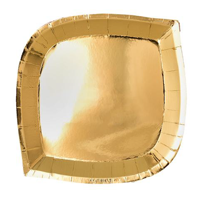 Gold Dinner Plate - Ralph and Luna Party Shop
