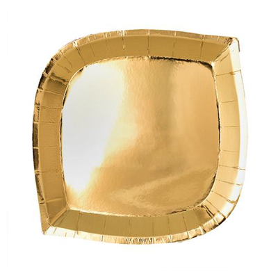 Gold Dessert Plate - Ralph and Luna Party Shop