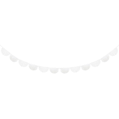White Scallopped Fringe Garland - Ralph and Luna Party Shop