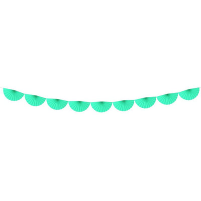 Mint Fan Garland - Ralph and Luna Party Shop