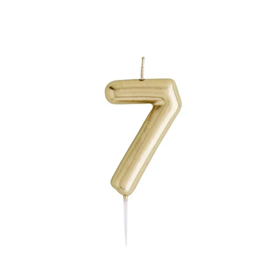 Gold Number Candle 7 - Ralph and Luna Party Shop