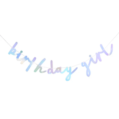 BIRTHDAY GIRL BANNER - Ralph and Luna Party Shop