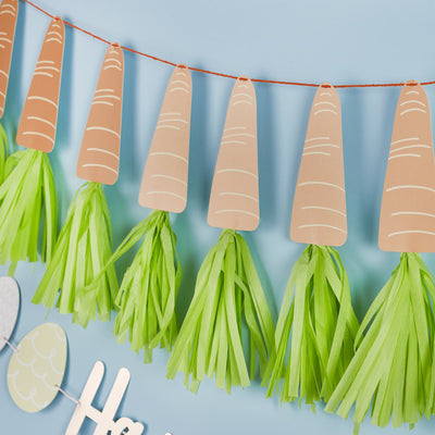 Easter Carrot Tassel Garland - Ralph and Luna Party Shop