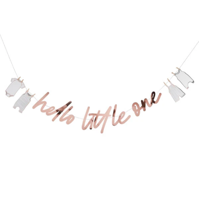 HELLO LITTLE ONE BANNER - Ralph and Luna Party Shop