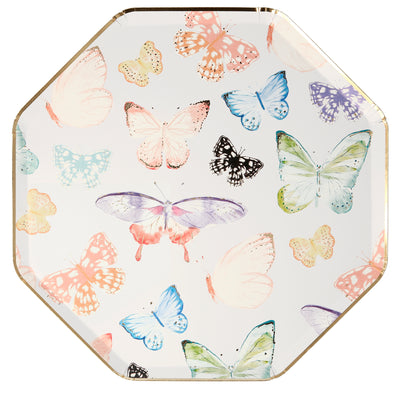 Butterfly Dinner Plates - Ralph and Luna Party Shop