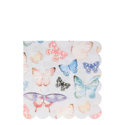 Butterfly Large Napkins - Ralph and Luna Party Shop
