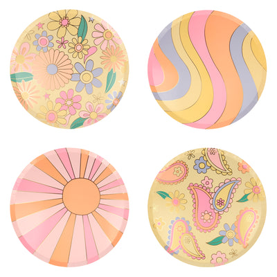 Psychedelic 60s Dinner Plates - Ralph and Luna Party Shop