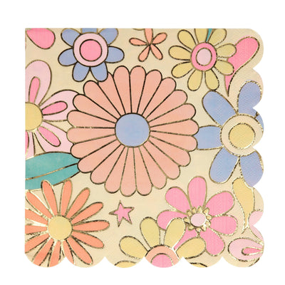 Psychedelic 60s Large Napkins - Ralph and Luna Party Shop