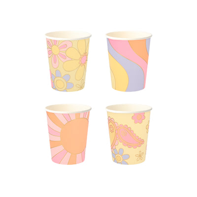 Psychedelic 60s Party Cups - Ralph and Luna Party Shop