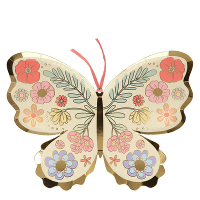 Floral Butterfly Plates - Ralph and Luna Party Shop