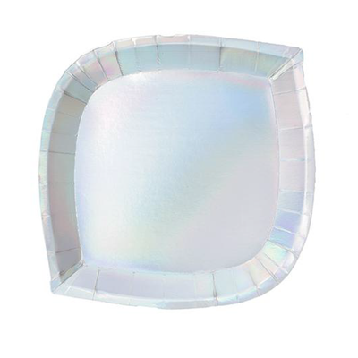 Iridescent Dessert Plate - Ralph and Luna Party Shop