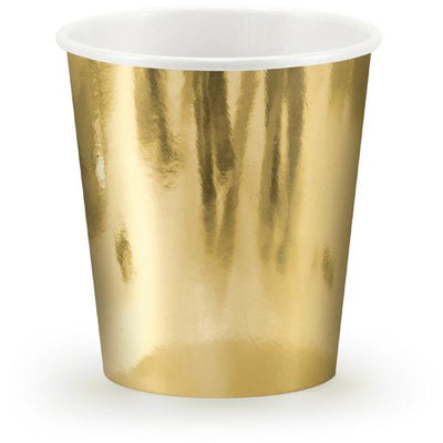 Gold 180ml Paper Cups - Ralph and Luna Party Shop