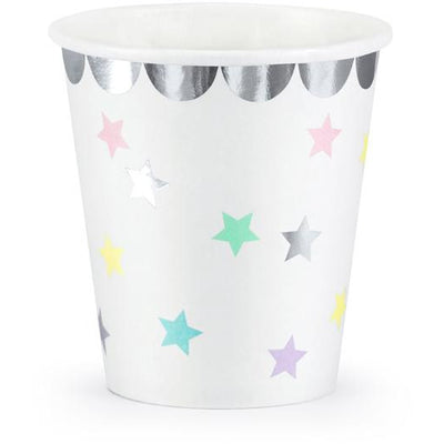 Unicorn Stars 180ml Paper Cups - Ralph and Luna Party Shop