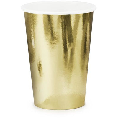 Gold 220ml Paper Cups - Ralph and Luna Party Shop