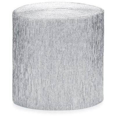Silver Crepe Paper Streamers - Ralph and Luna Party Shop