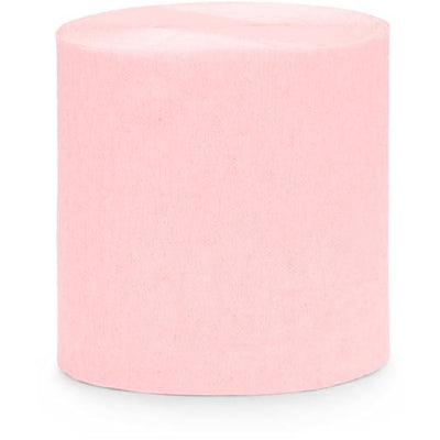 Light Pink Crepe Paper Streamers - Ralph and Luna Party Shop