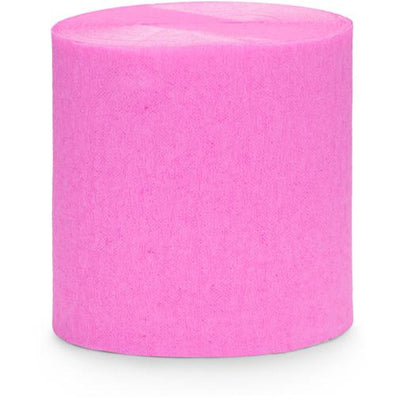 Pink Crepe Paper Streamers - Ralph and Luna Party Shop