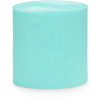 Turquoise Crepe Paper Streamers - Ralph and Luna Party Shop