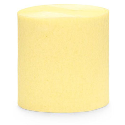 Pale Yellow Crepe Paper Streamers - Ralph and Luna Party Shop
