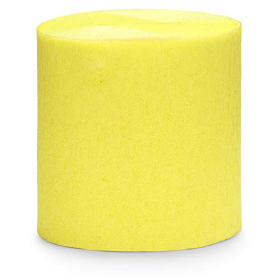 Yellow Crepe Paper Streamers - Ralph and Luna Party Shop