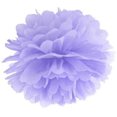 Pale Lilac Tissue Pom Pom 25cm - Ralph and Luna Party Shop