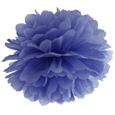 Navy Blue Tissue Pom Pom 25cm - Ralph and Luna Party Shop