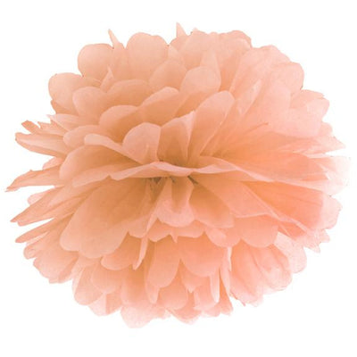Peach Tissue Pom Pom 25cm - Ralph and Luna Party Shop
